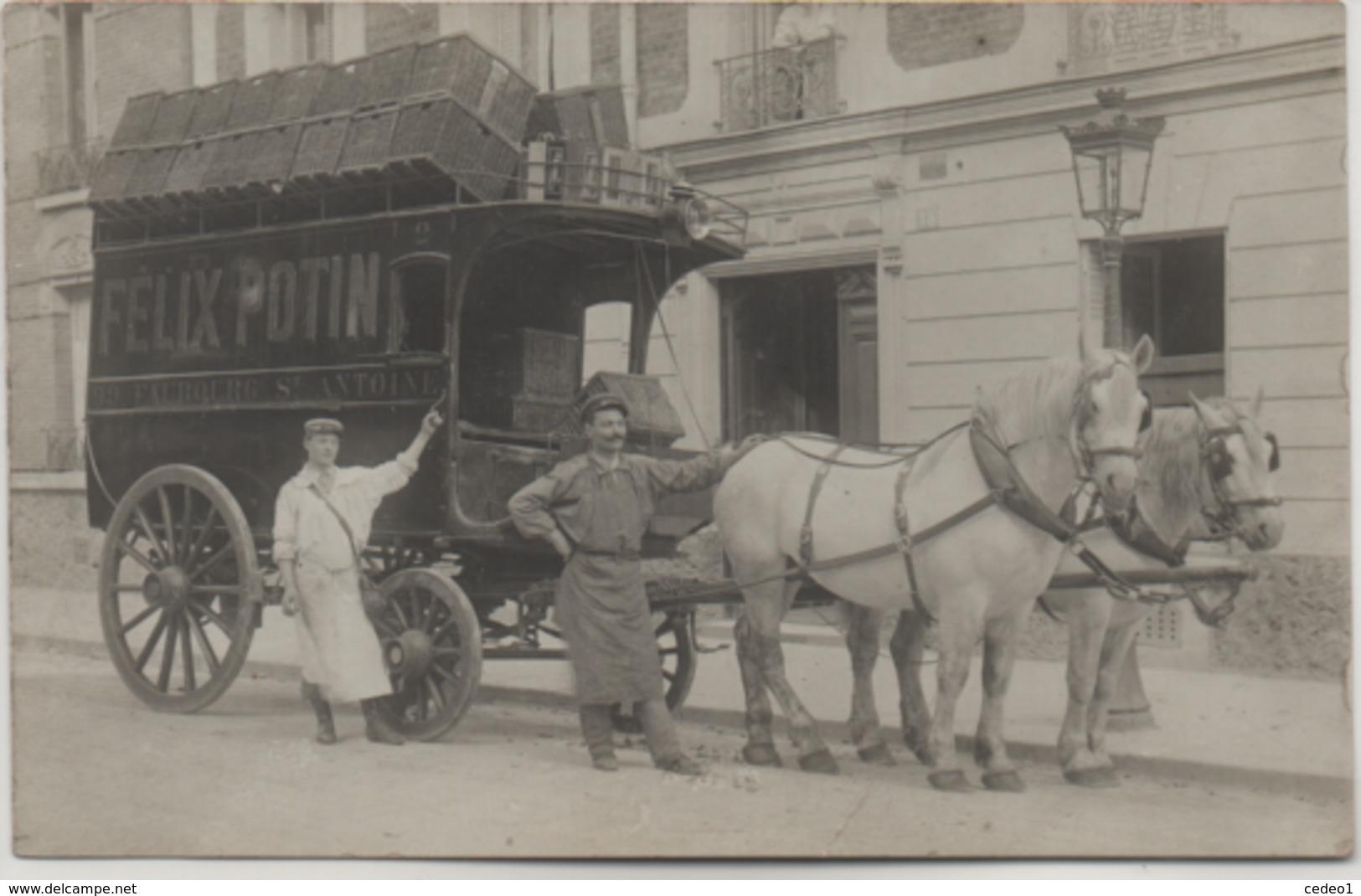 FELIX POTIN  LOT DE 7 CARTES PHOTOS + UN MENU  DE 1927  VOIR LES SCANS - France