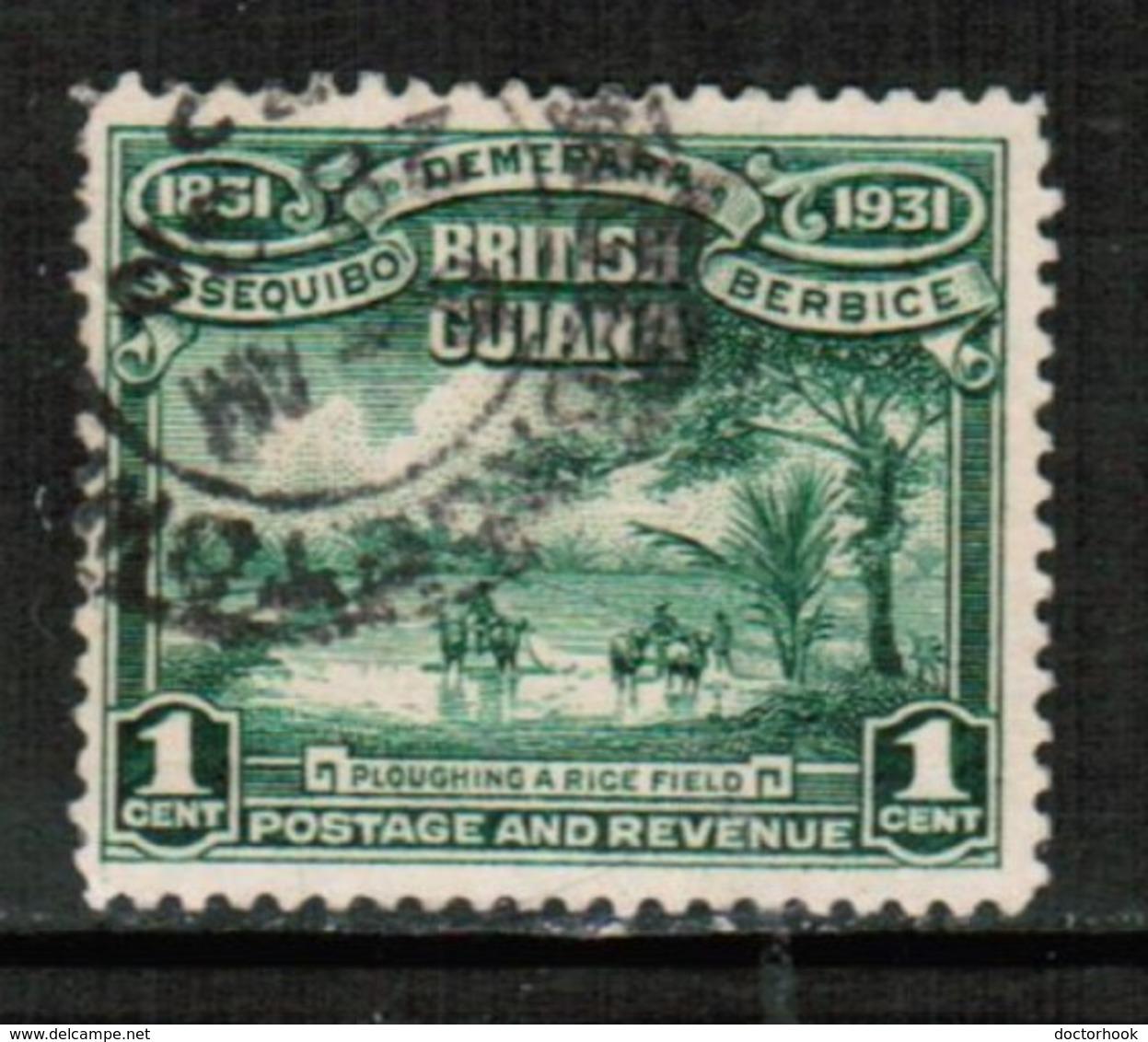 BRITISH GUIANA  Scott # 205 VF USED (Stamp Scan # 428) - British Guiana (...-1966)