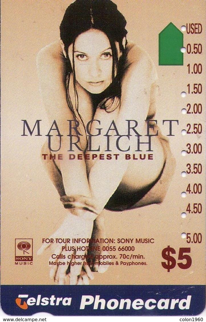 TARJETA TELEFONICA DE AUSTRALIA. (CHICAS) MARGARET URLICH. (077) - Erótica (Adultos)