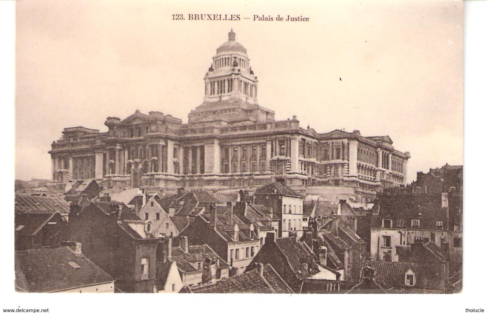 """Carte Photo-Bruxelles-1909-Palais De Justice-Quartier """"Rue Des Minimes-Rue Haute""""? à L'avant Plan-Ed.Grand Bazar Anspach - Bauwerke, Gebäude"""