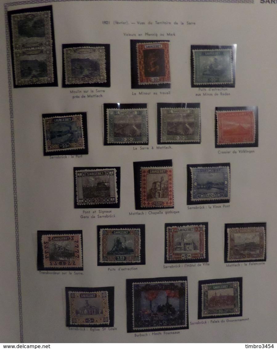 Sarre Belle Collection Neufs **/* 1920/1959. Séries Complètes Et Bonnes Valeurs. B/TB. A Saisir! - Collections, Lots & Séries