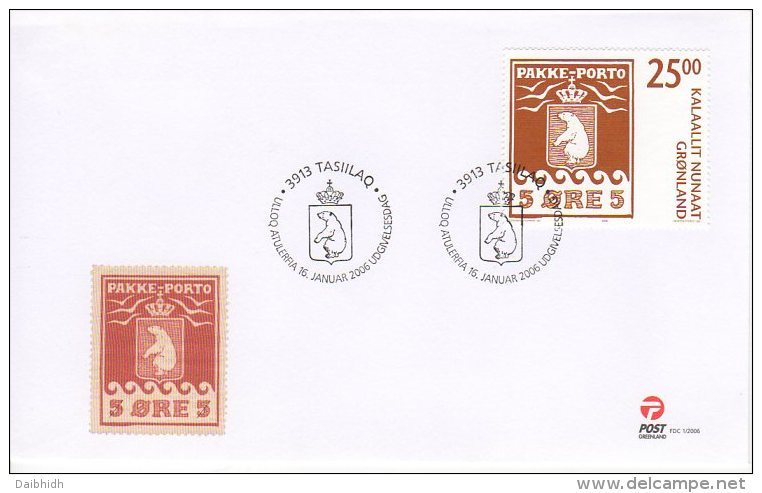 GREENLAND 2006 Stamp Centenary 25Kr On FDC  Michel 460 - FDC