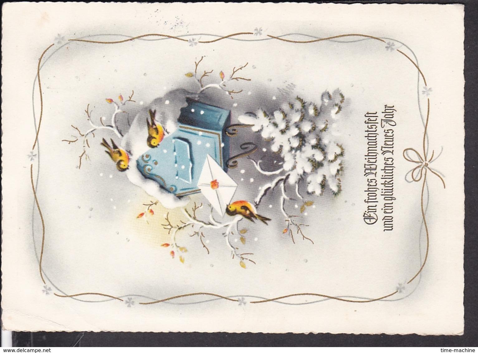 Postkarte Weihnachten , Neujahr  1958 - Weihnachten