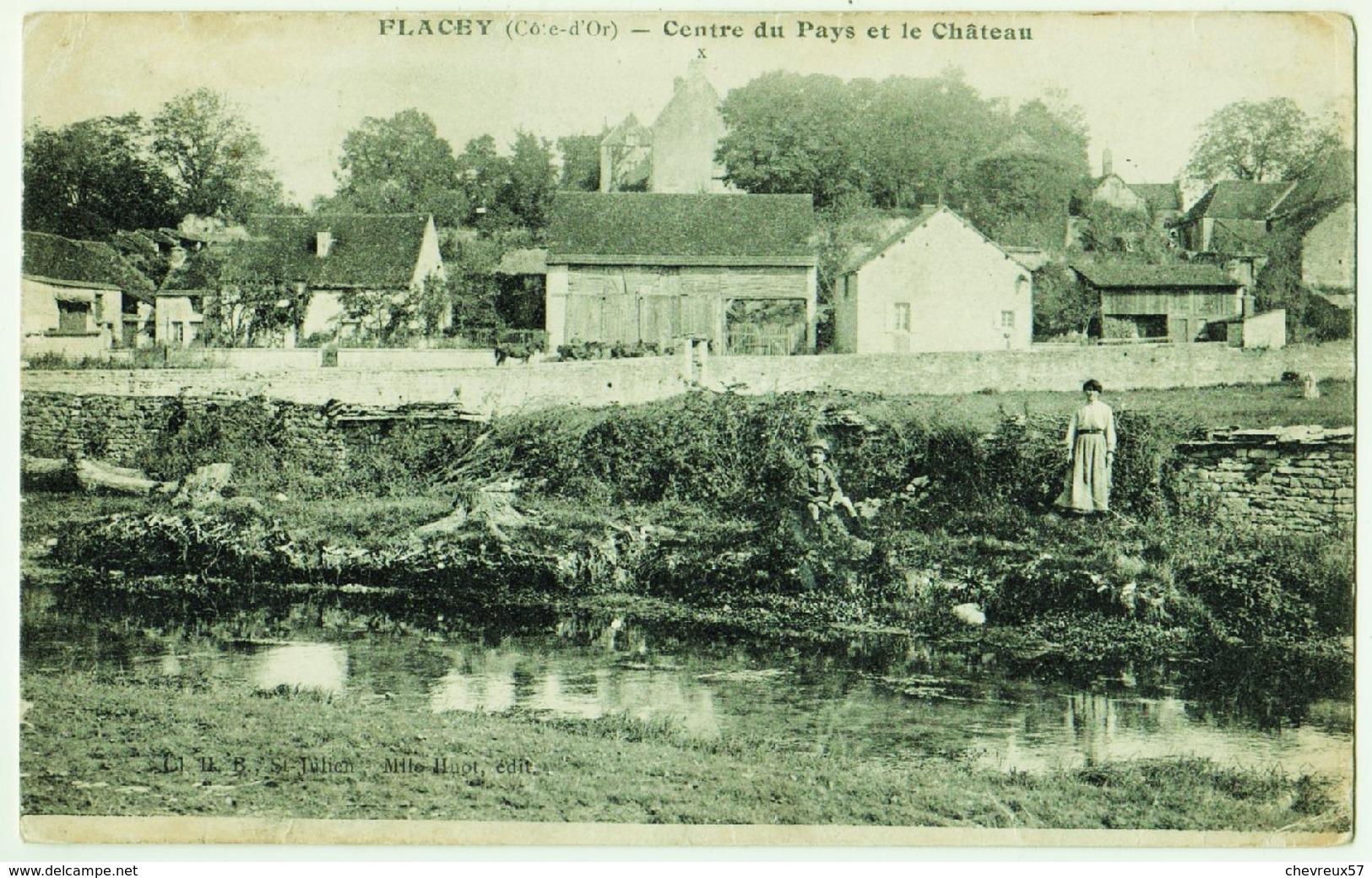 FLACEY (Côte-d'Or) - Centre Du Pays Et Le Château - Frankreich
