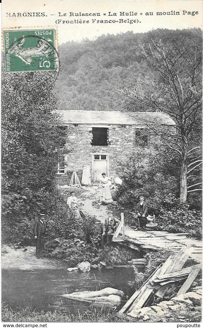 HARGNIES. Le Ruisseau La Mulle Au Moulin Page. - Autres Communes