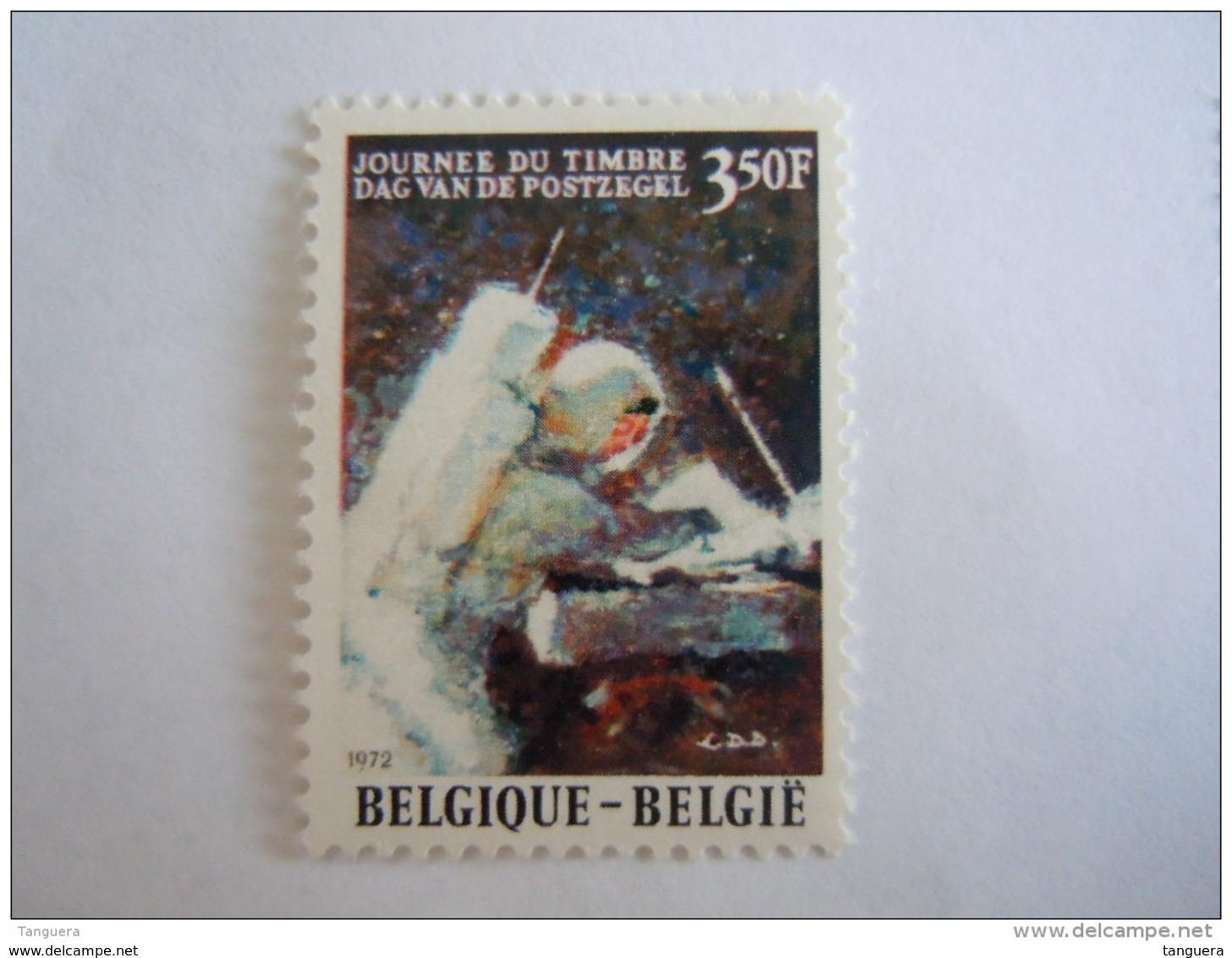 Belgie Belgique 1972 Dag Van De Postzegel Astronaut David R. Scott Astronaute Sur La Lune Yv COB 1622 MNH ** - Belgium