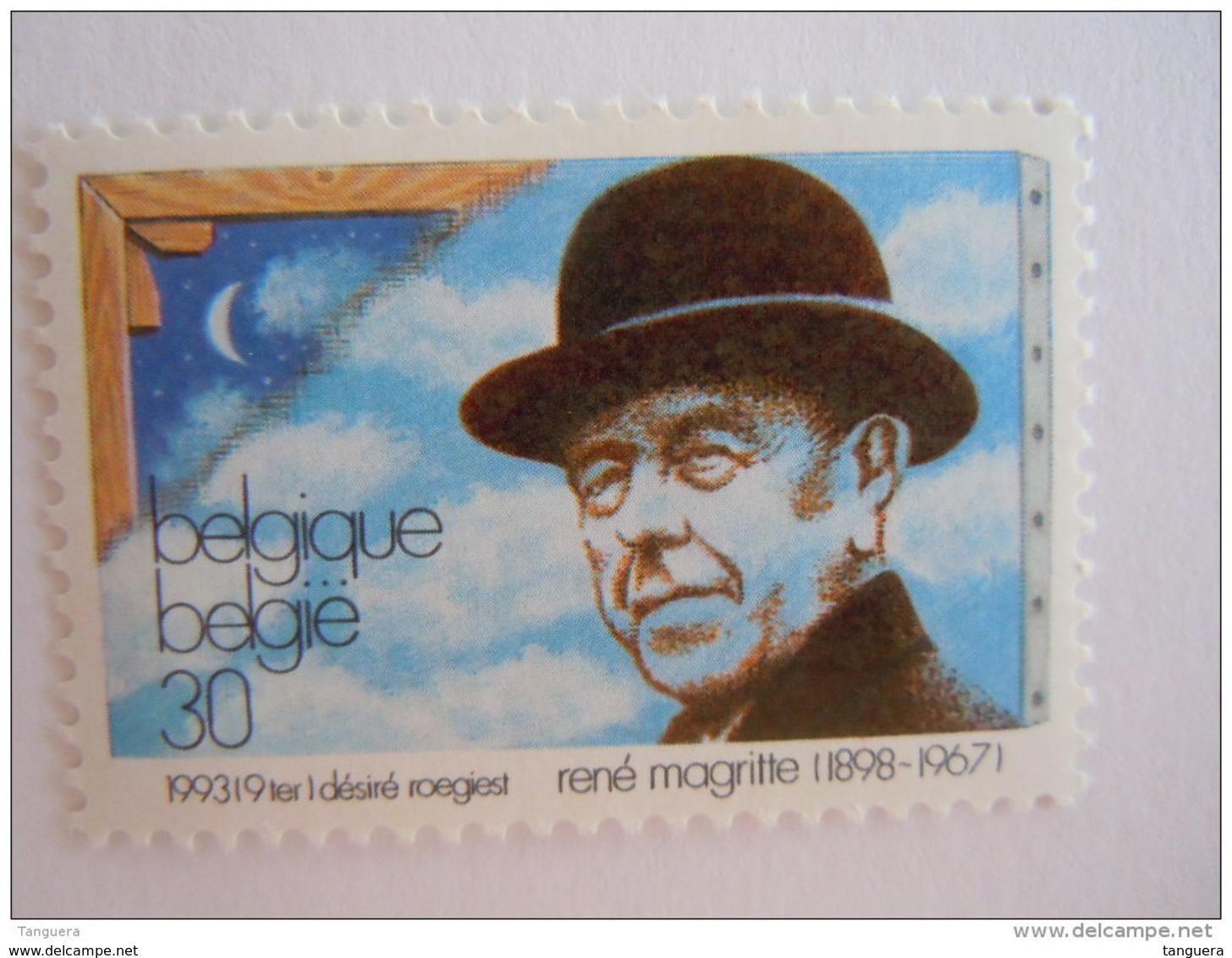 België Belgique 1993 René Magritte Schilder Paintre Surrealist Portrait Cob Yv 2518 MNH ** - Belgien