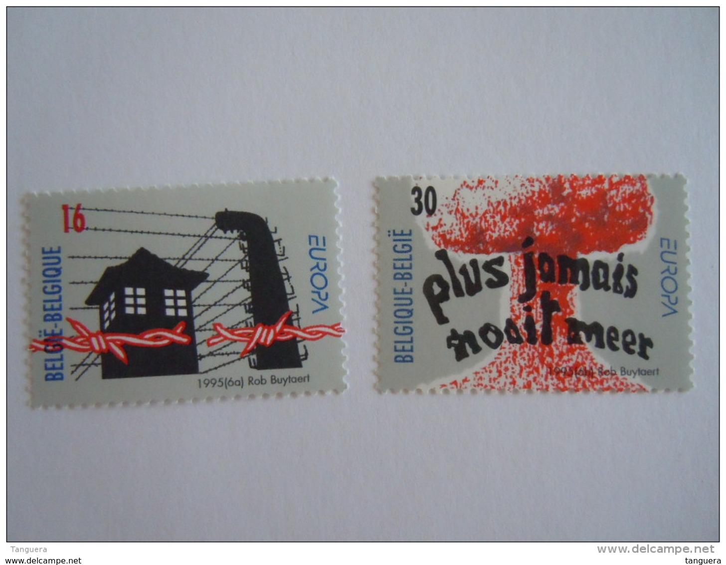 België Belgique 1995 Europa Bevrijding Kampen Libertion Des Camps De Concentration Non Proliferatie 2597-2598 MNH ** - Unused Stamps