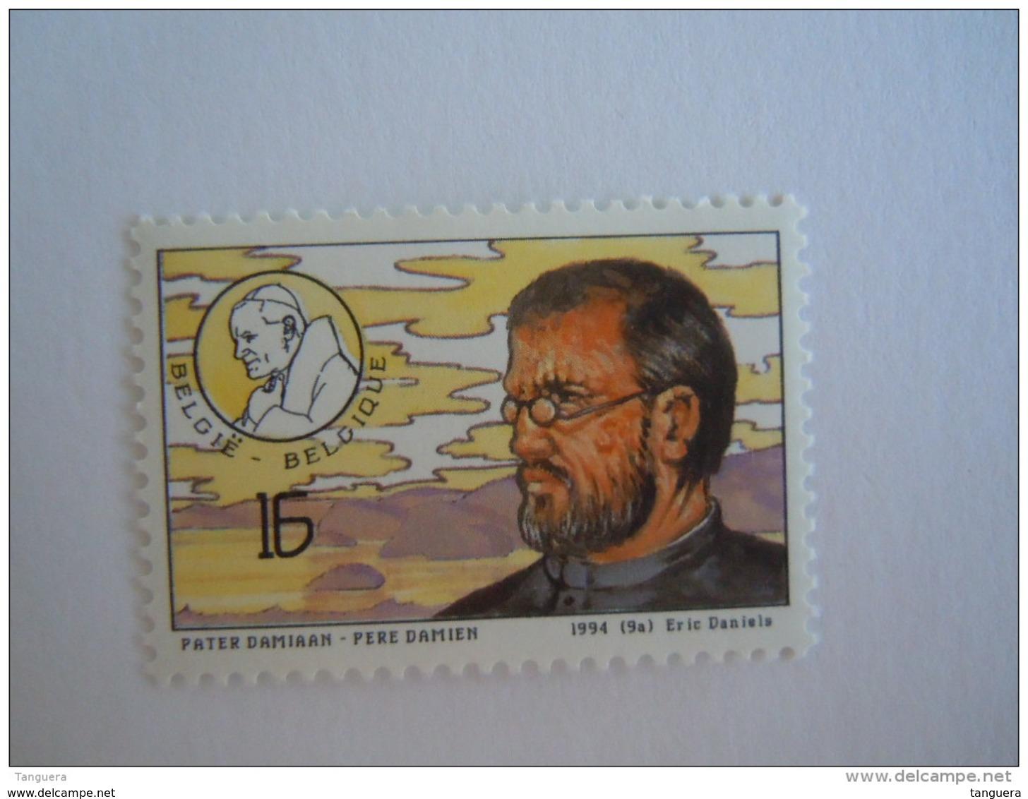België Belgique 1994 Pater Damiaan Père Damien Paus Pape Cob 2557 Yv 2553 MNH ** - Ungebraucht