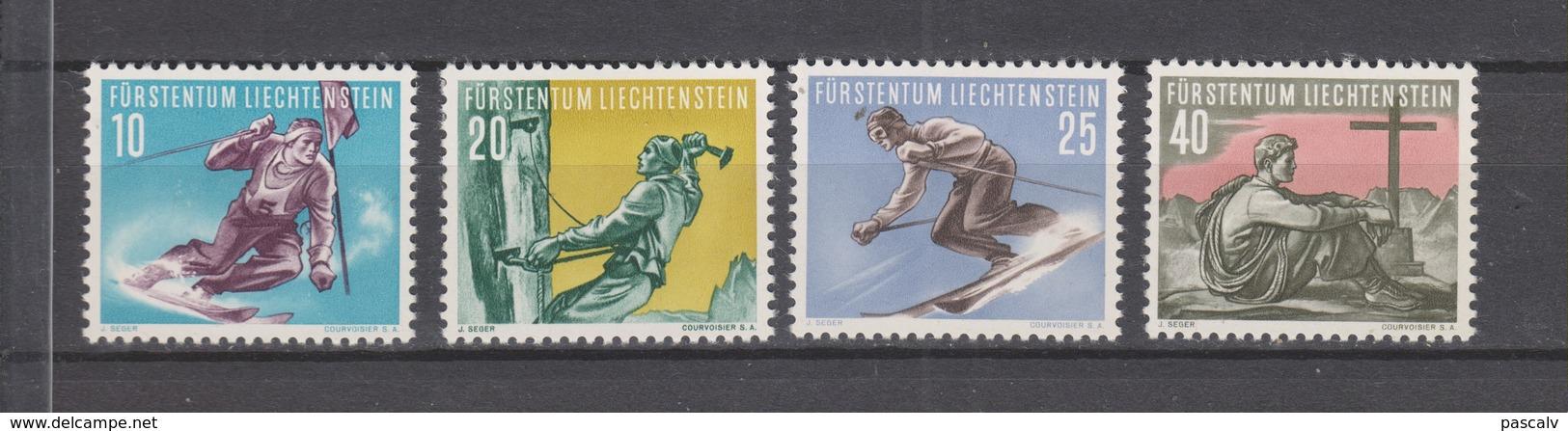Yvert 296 / 299 * Neuf Avec Charnière Ski Alpinisme - Liechtenstein