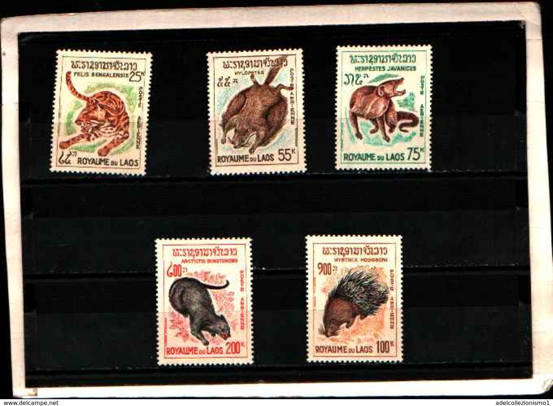 73346) Laos-LOTTO FRANCOBOLLI -MNH**-ANIMALIDIVERSI - Laos