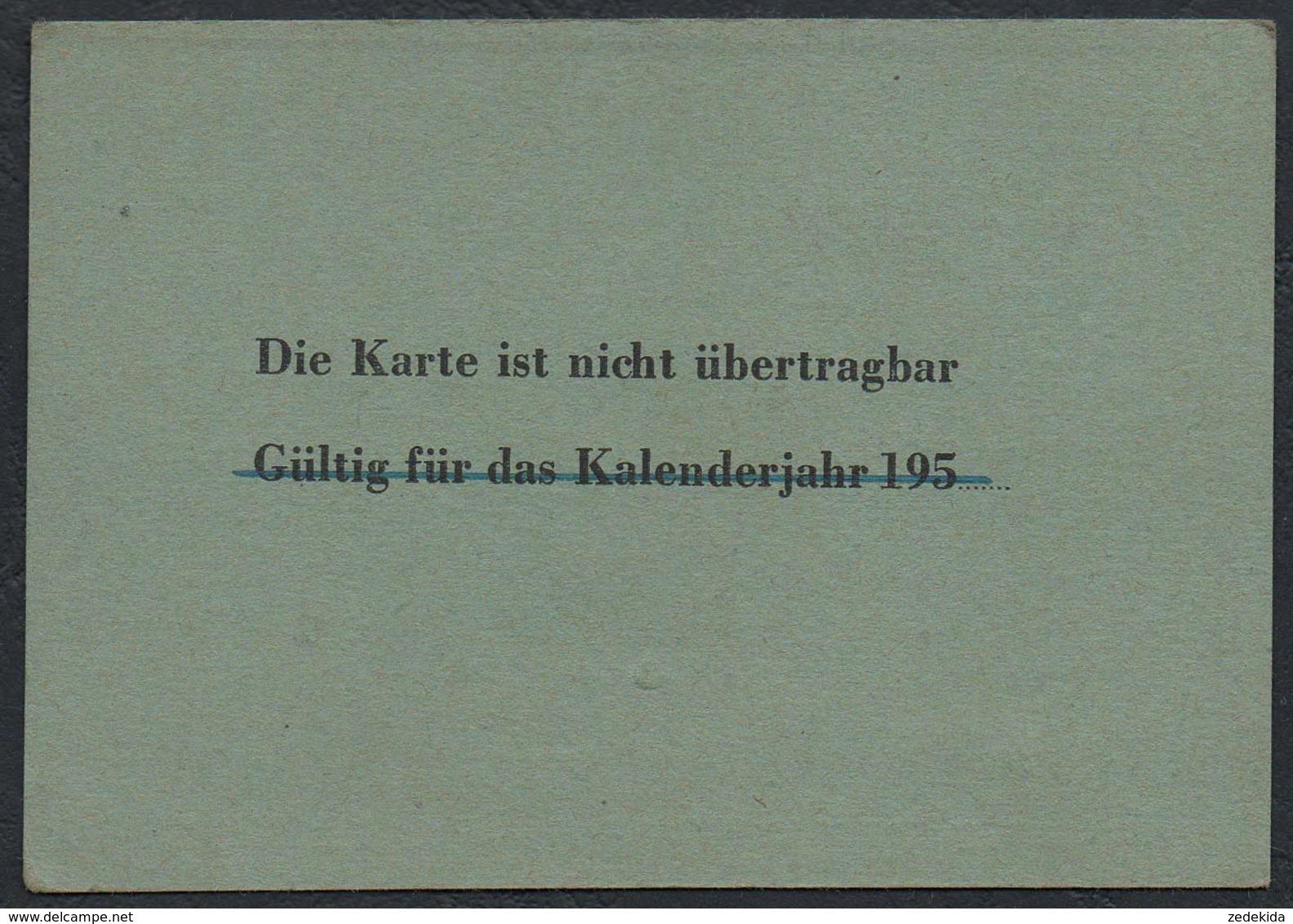 2716 - Deutsche Post Fahrkarte Dienstfahrkarte Postdirektion Leipzig - PA Rochlitz - Ausweis Dokument - Sonstige