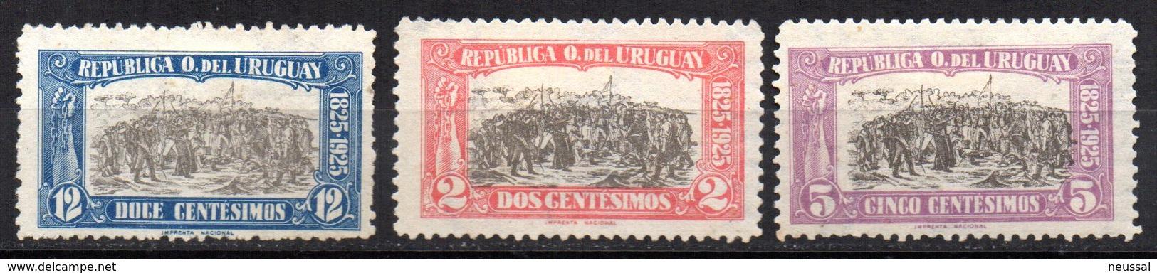 Serie Nº 298/300 Uruguay - Uruguay