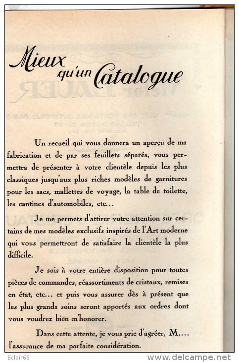 VICTOR LAUER  CATALOGUE  Publicité VENTE PARIS Orfévrerie & Cristaux Tout Pour Voyage   8 Pages - Catalogues