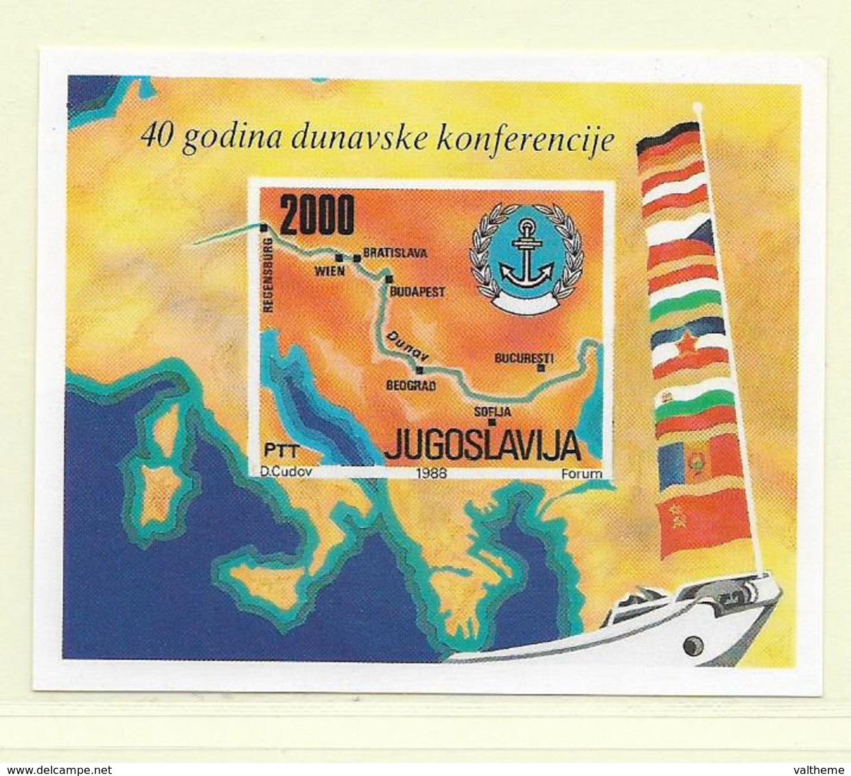 YOUGOSLAVIE  ( EU - 308 )  1988  N° YVERT ET TELLIER  N° 32   N** - Blocs-feuillets