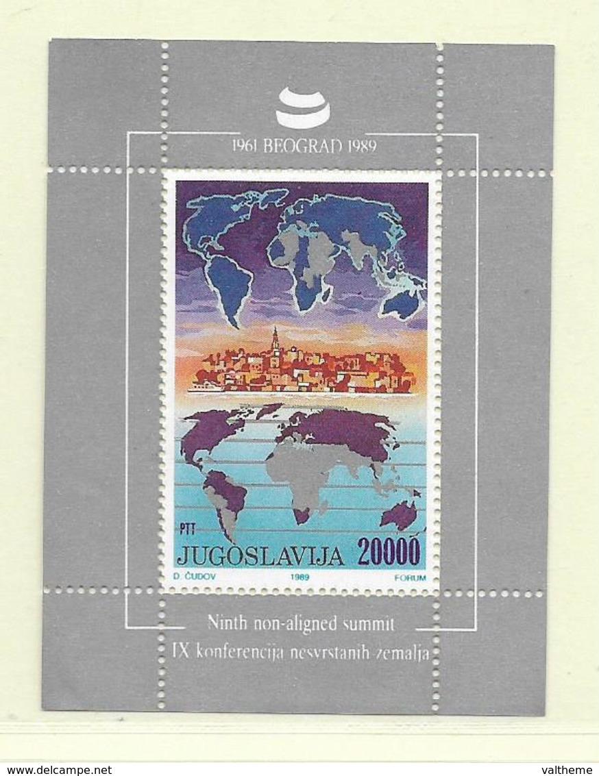 YOUGOSLAVIE  ( EU - 310 )  1989  N° YVERT ET TELLIER  N° 35   N** - Blocs-feuillets