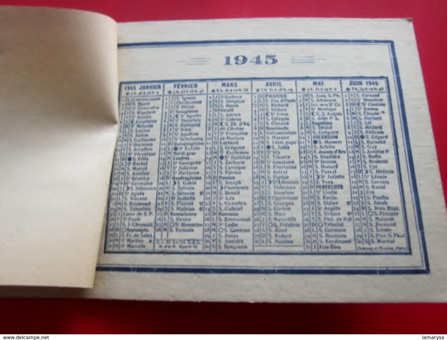 WW2 1945 Calendrier Petit Format-Publicité Aigle France Marseille R Des Dominicaines-pub Avis Recherche Usage Perso-Lire - Petit Format : 1941-60