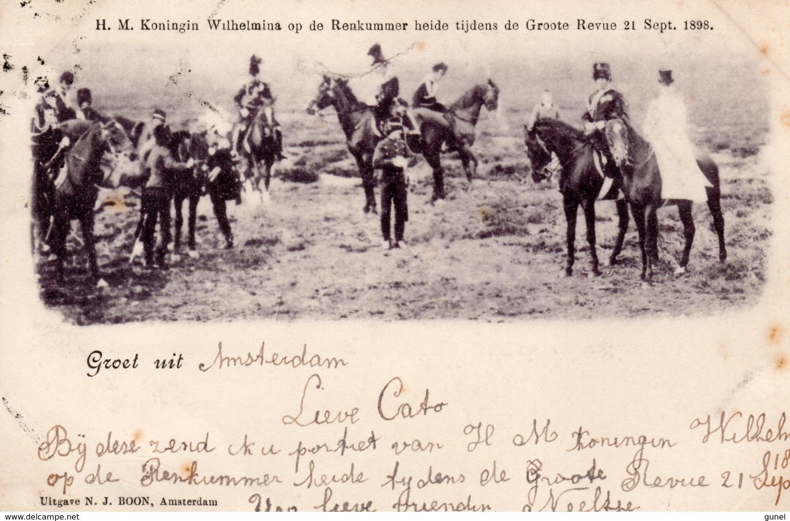 18 JAN 99   Ansicht Met NVPH34  Van Amsterdam Met  Koningin Wilhelmina Op Renkumer Heide - Periode 1891-1948 (Wilhelmina)