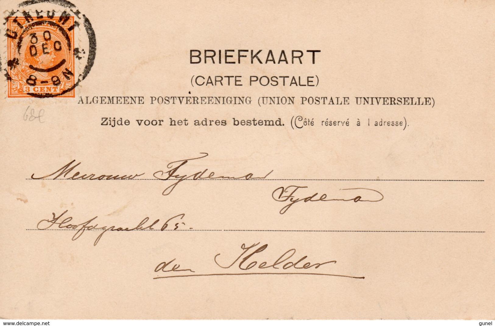 30 DEC ???    Ansicht Met NVPH34  Van Utrecht Naar Den Helder - Periode 1891-1948 (Wilhelmina)