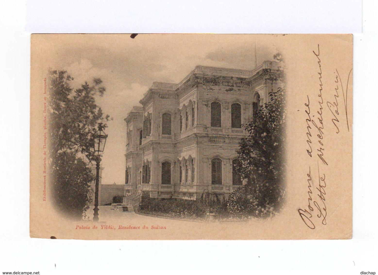 Sur Carte Postale De Turquie Vers St Péray  Type Sage 10 C. Noir S. Lilas. CAD Constantinople 1900. (802) - 1858-1921 Empire Ottoman