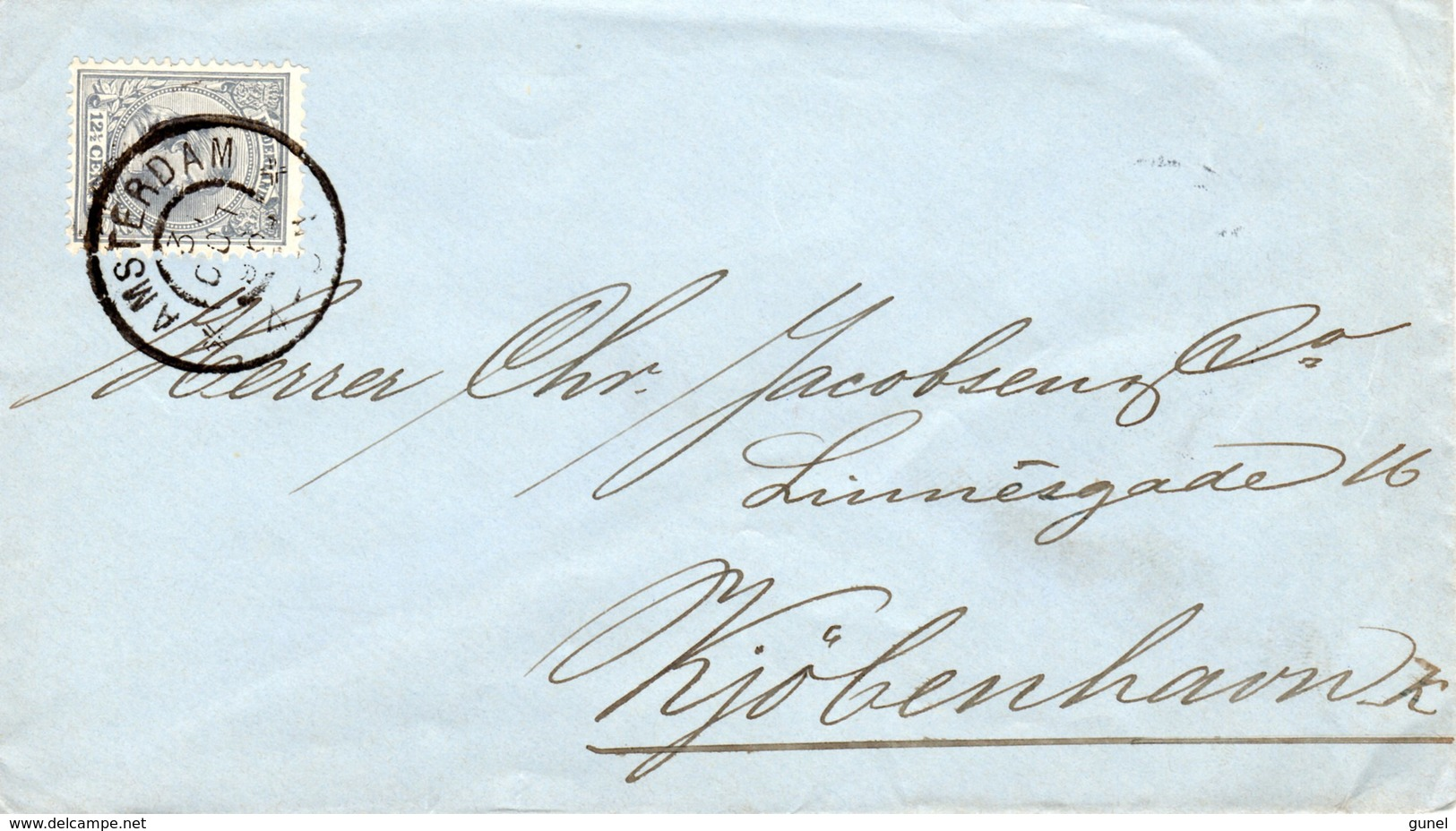 31 OCT 96 Envelop Met NVPH 38 Van Amsterdam Naar Kopenhagen - Periode 1891-1948 (Wilhelmina)