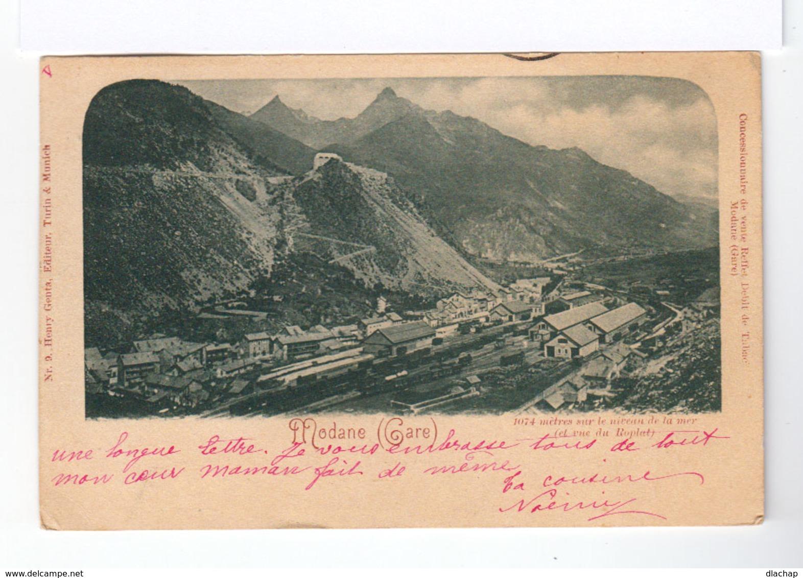 Sur Carte Postale De Turquie Vers Valence Type Sage 10 C. Noir S. Lilas. CAD Constantinople 1900. (806) - 1858-1921 Empire Ottoman