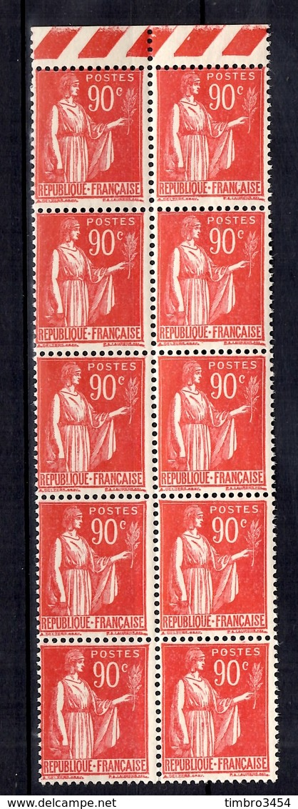 France YT N° 285 En Bloc De Dix Timbres Neufs ** MNH. Gomme D'origine. TB. A Saisir! - France