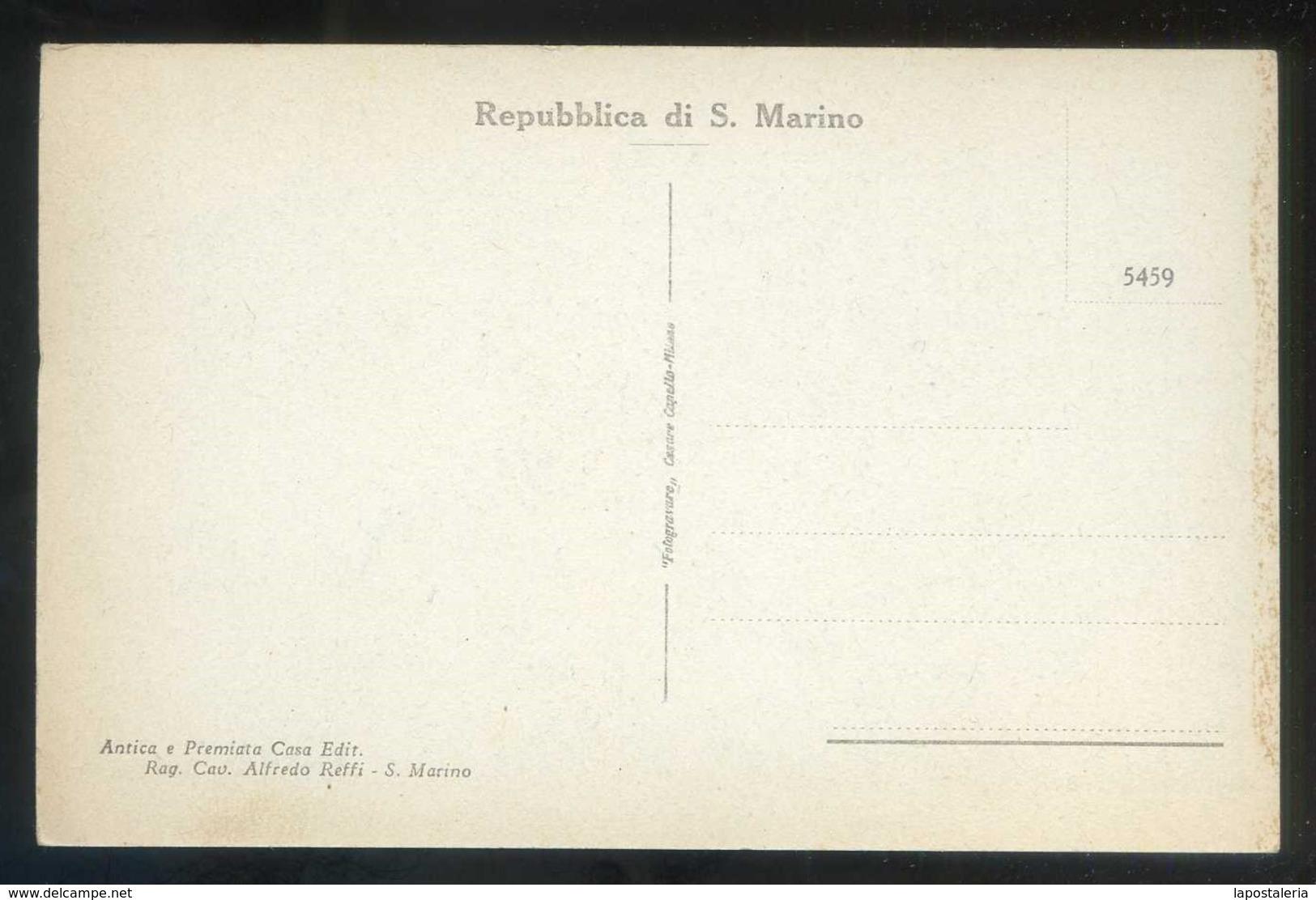 *Il Monte Titano Visto Da Levante* Ed. A. Reffi Nº 5459. Nueva. - San Marino