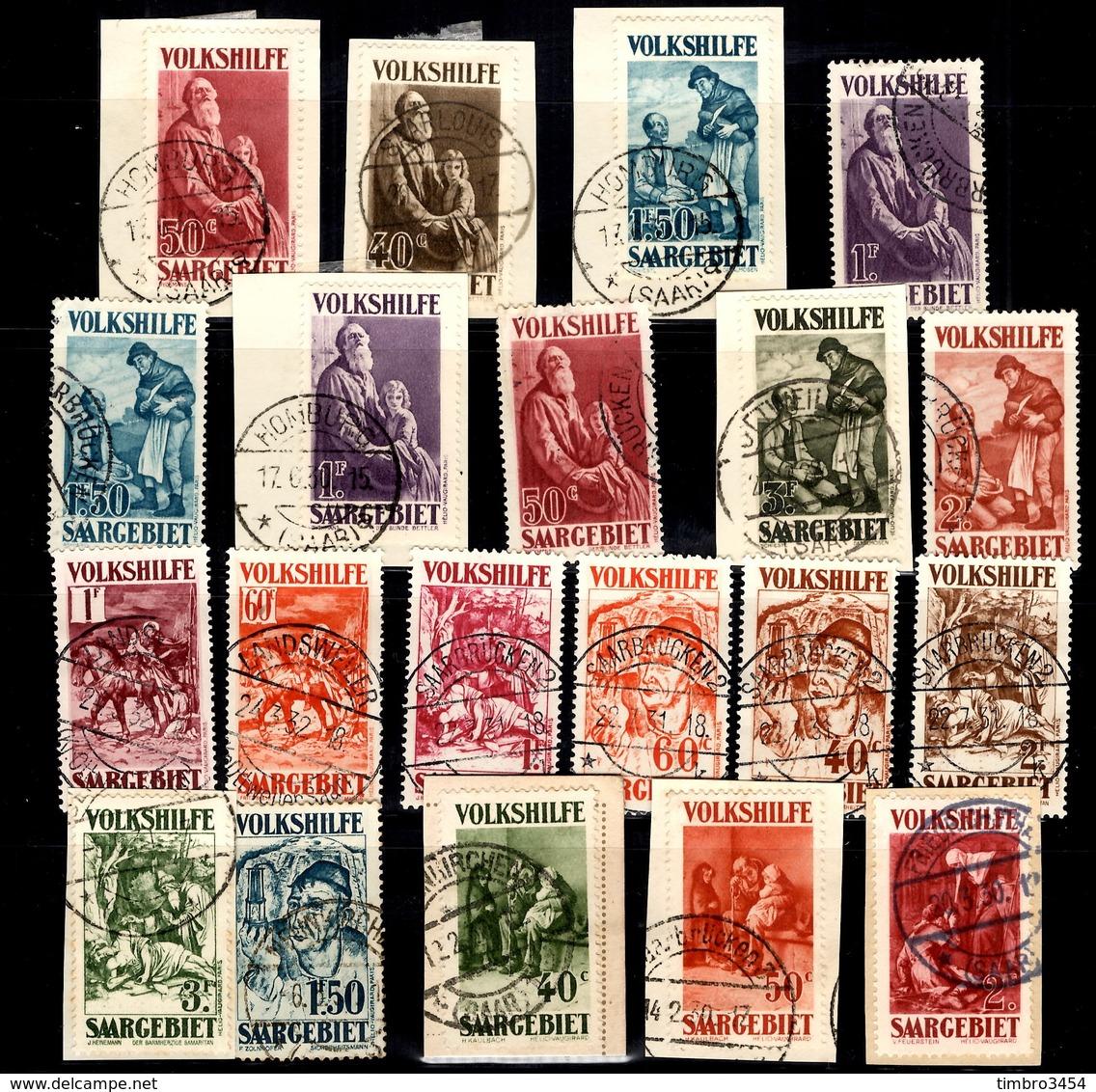 Sarre Belle Collection De Timbres à Surtaxe Oblitérés 1929/1932. Bonnes Valeurs. B/TB. A Saisir! - Sarre