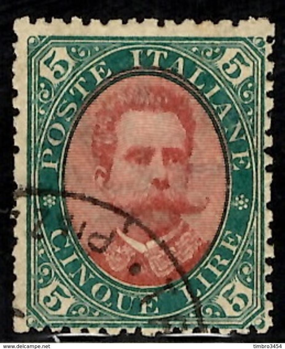 Italie YT N° 45 Oblitéré. Signé. B/TB. A Saisir! - 1878-00 Humbert I