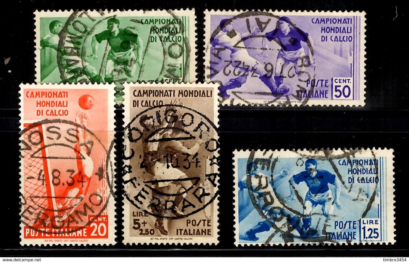 Italie YT N° 339/343 Oblitérés. B/TB - Oblitérés