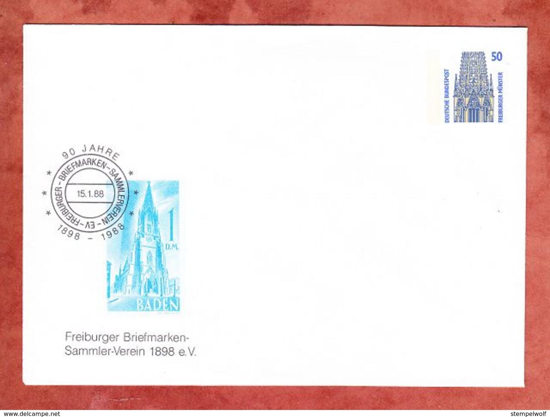 PU Freiburger Muenster, 1988, Ungebraucht (59812) - Private Covers - Mint