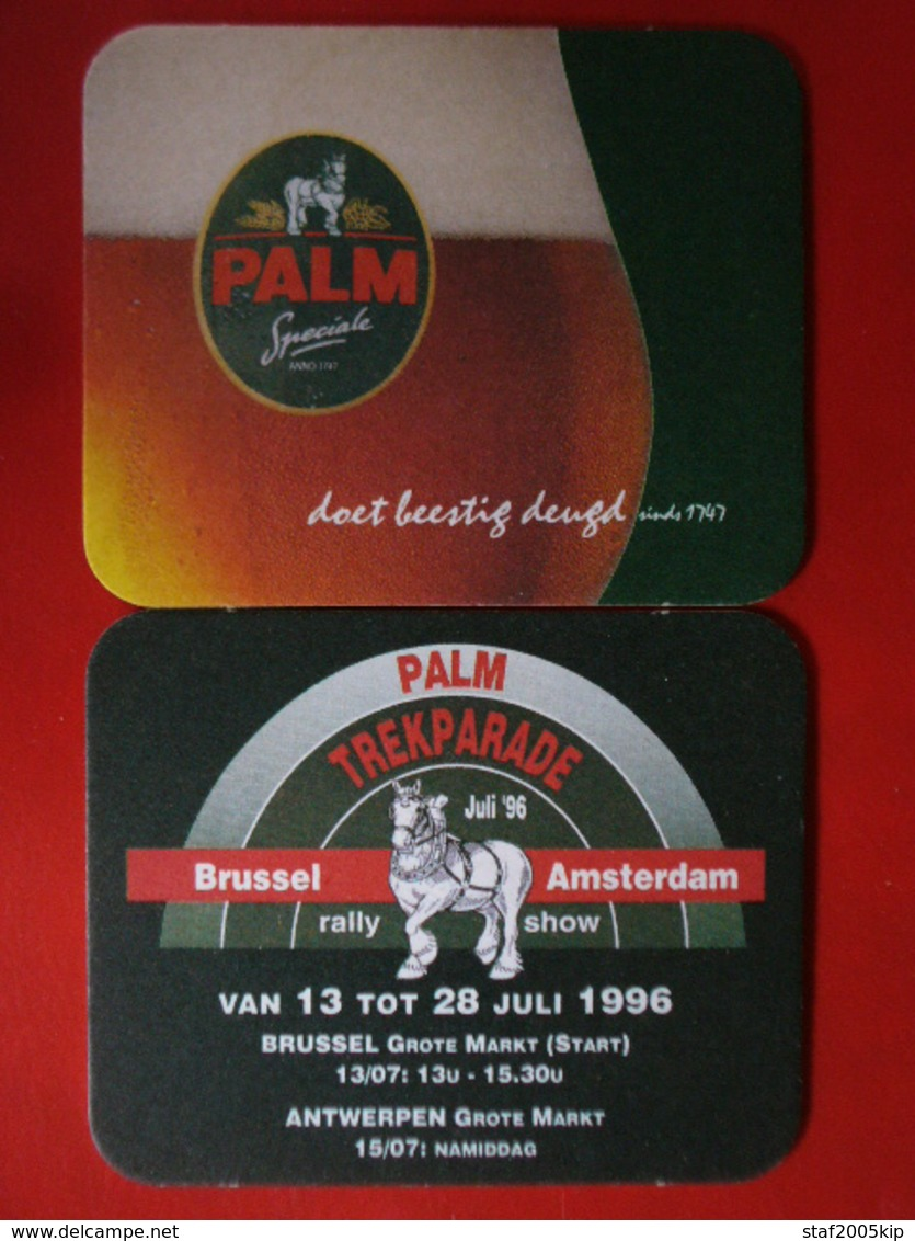 Bierviltjes - Palm - Trekparade Brussel Amsterdam - Rally Show 1996 - Sous-bocks