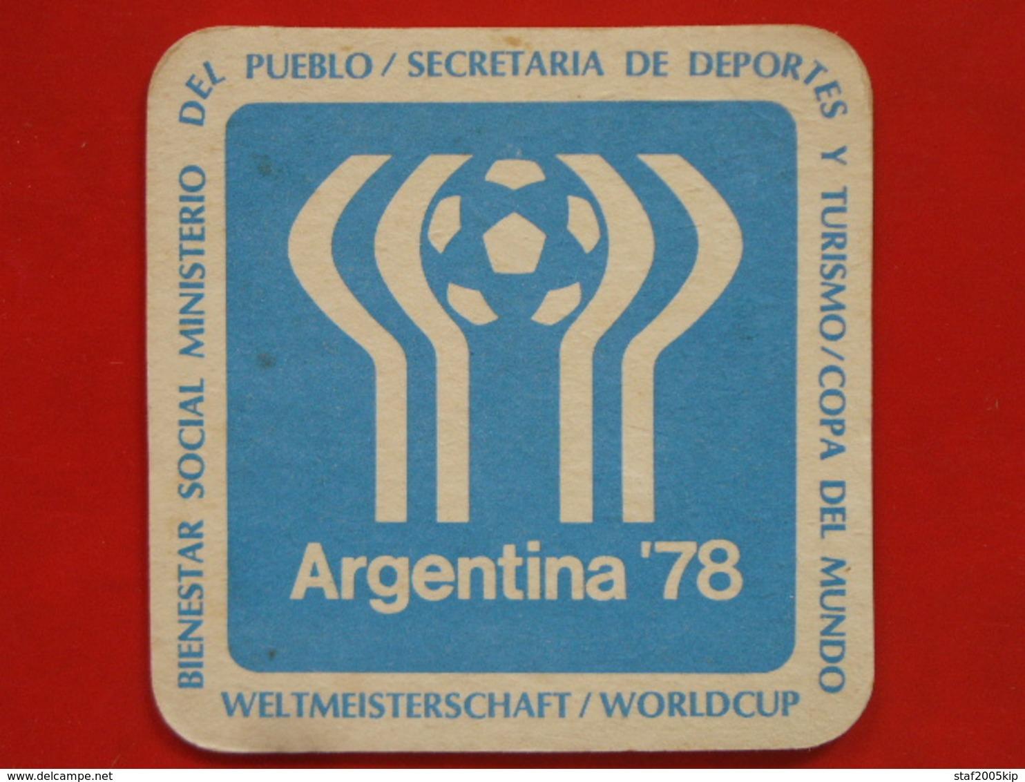 Bierviltjes - Argentina 1978 - Worldcup Voetbal - Sous-bocks