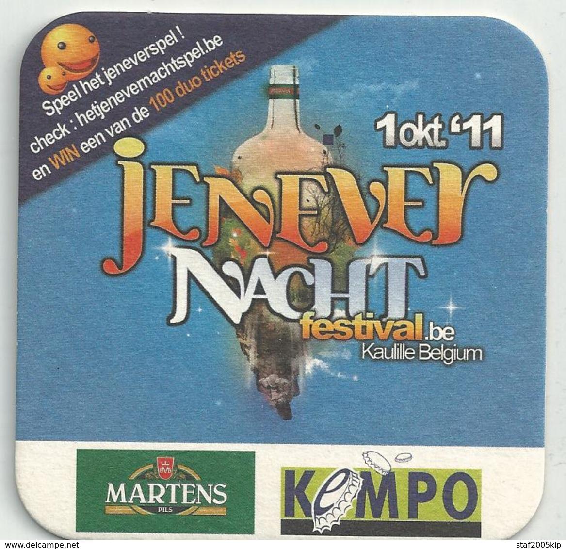 Bierviltje - Jenever Nachtfestival Kaulille 2011 - Martens Pils - KEMPO - Sous-bocks