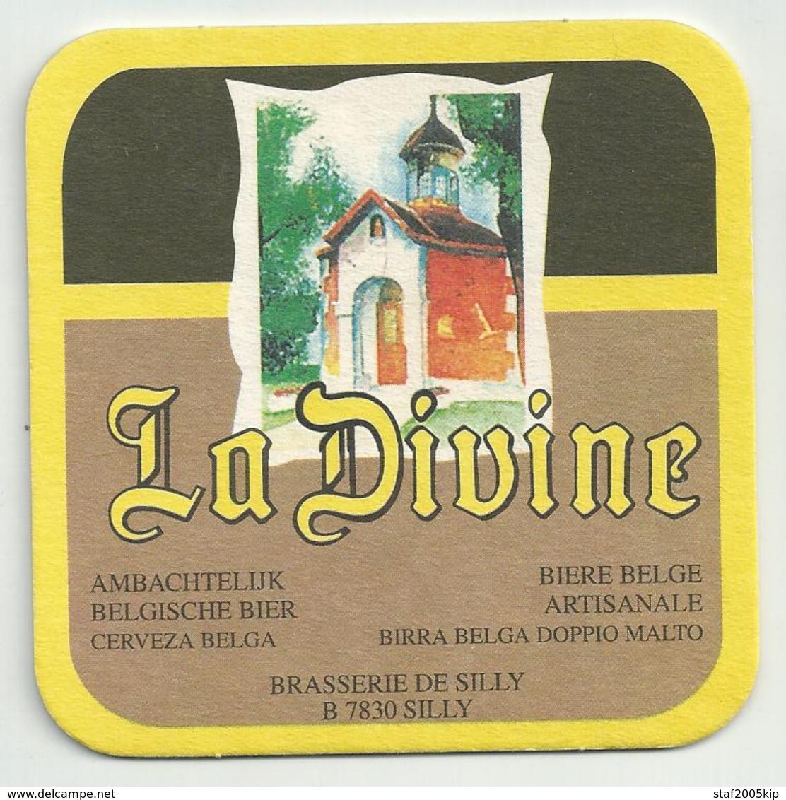 Bierviltje - La Divine - Silly - Sous-bocks