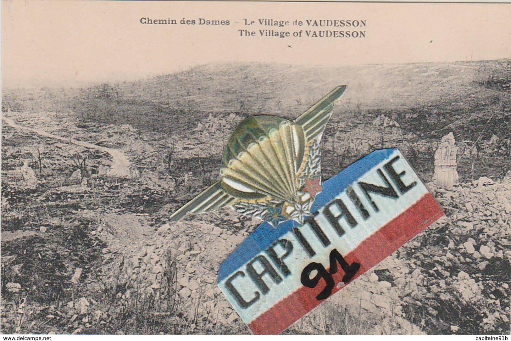 CPA LE VILLAGE DE VAUDESSON AISNE - France