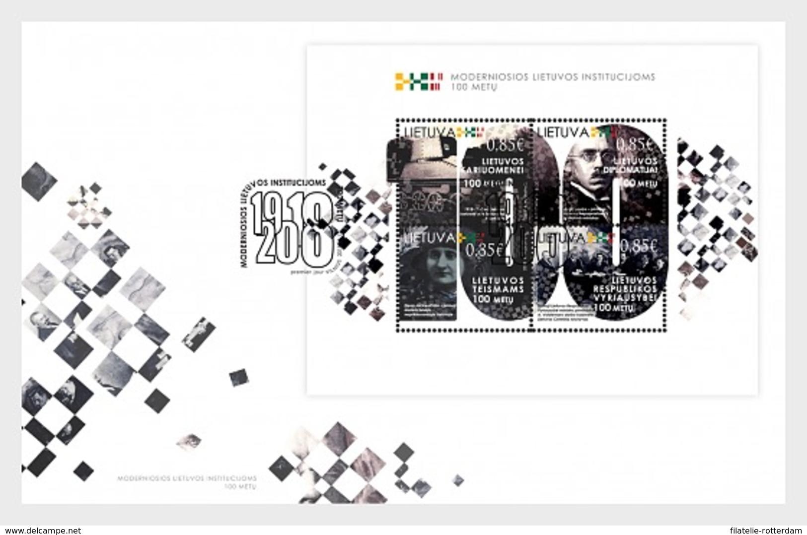 Litouwen / Lithuania - Postfris / MNH - FDC Sheet Moderne Instituten 2018 - Lithuania