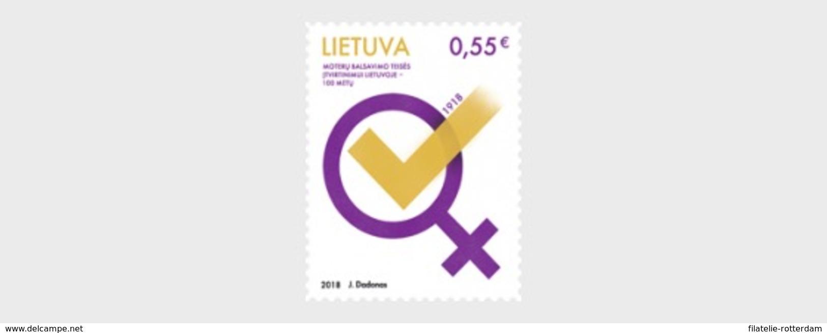 Litouwen / Lithuania - Postfris / MNH - Vrouwenrechten 2018 - Lithuania