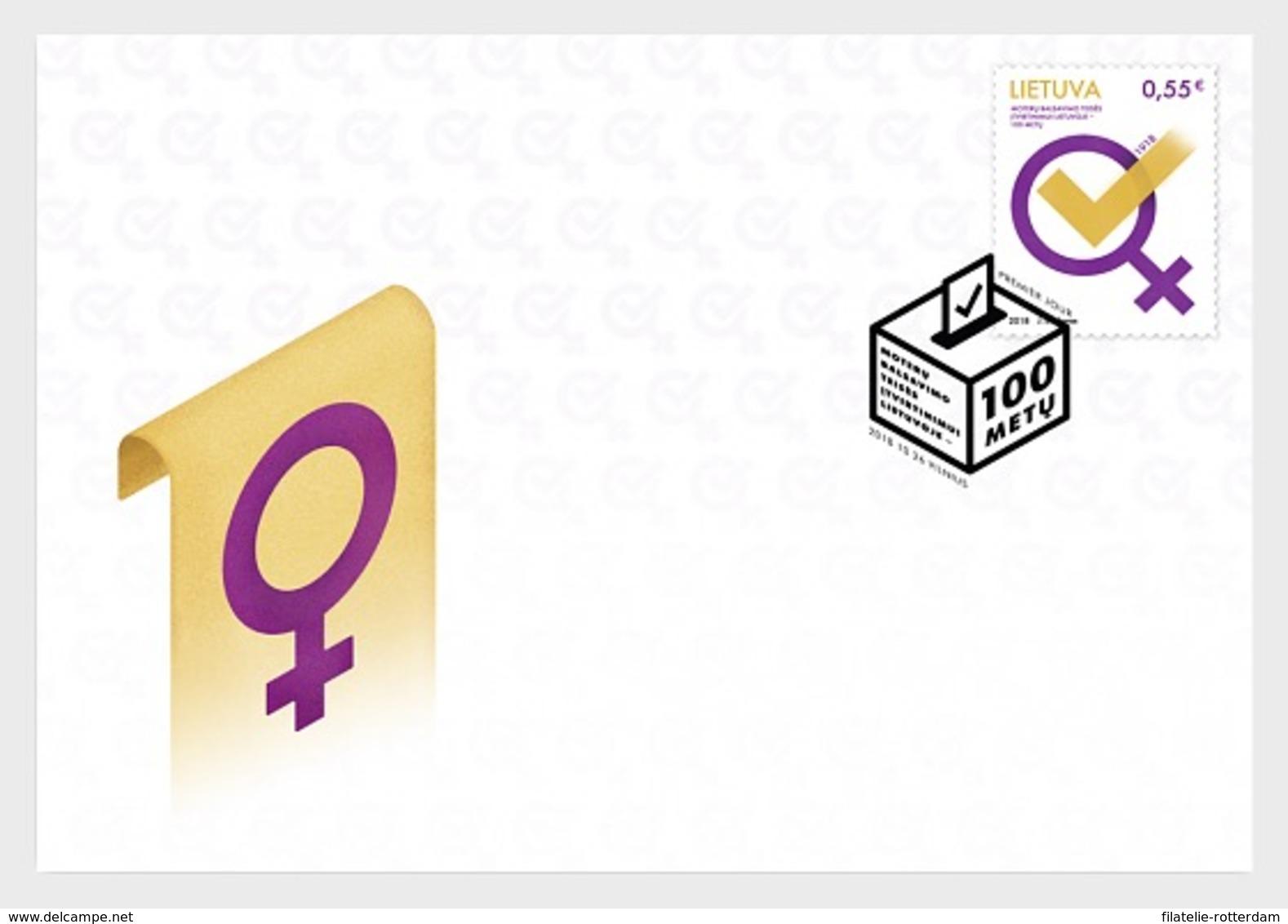 Litouwen / Lithuania - Postfris / MNH - FDC Vrouwenrechten 2018 - Lithuania