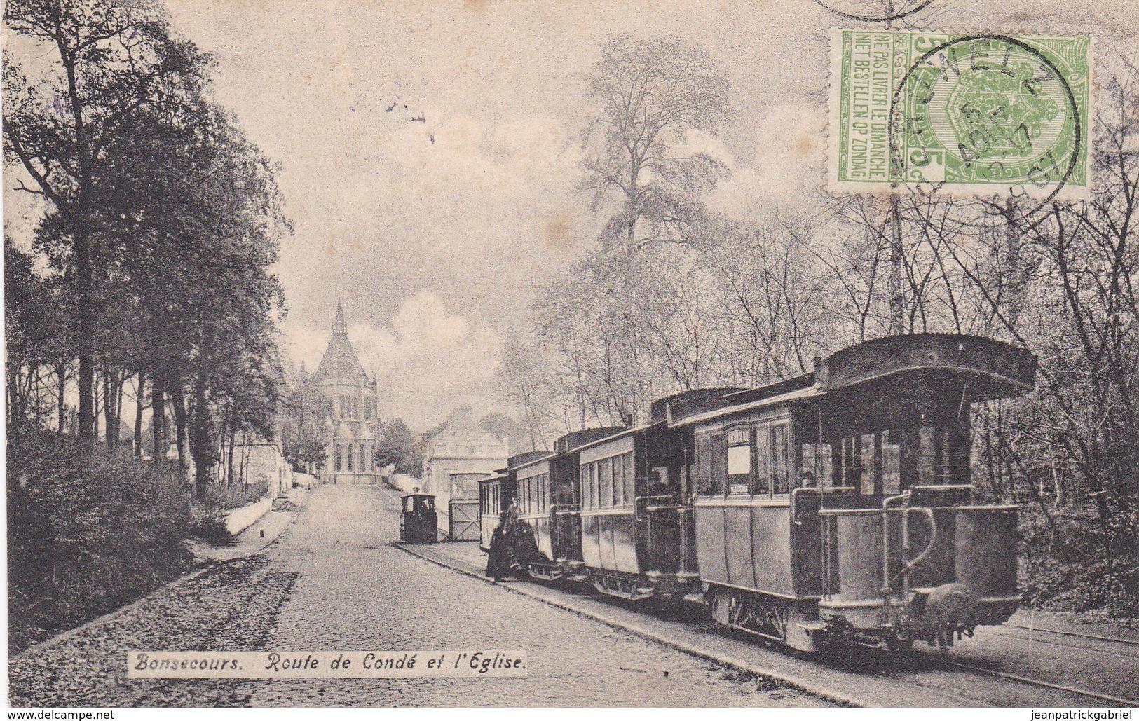 Bonsecours Route De Conde Et L Eglise - Belgium