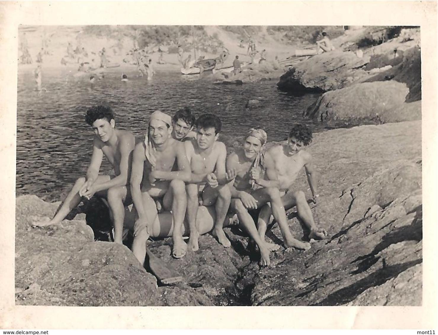 """1 ORIGINAL FOTO - Aufgenommen Auf Der Naturisteninsel """"Ile Du Levant"""" 1953 - Berühmtheiten Von Früher"""
