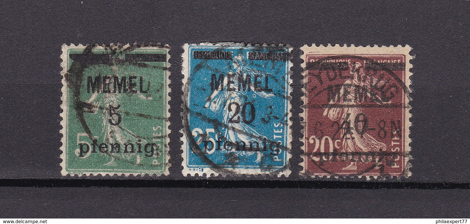 Memelgebiet - 1920/22 - Michel Nr. 18+20+22 - Klaipeda