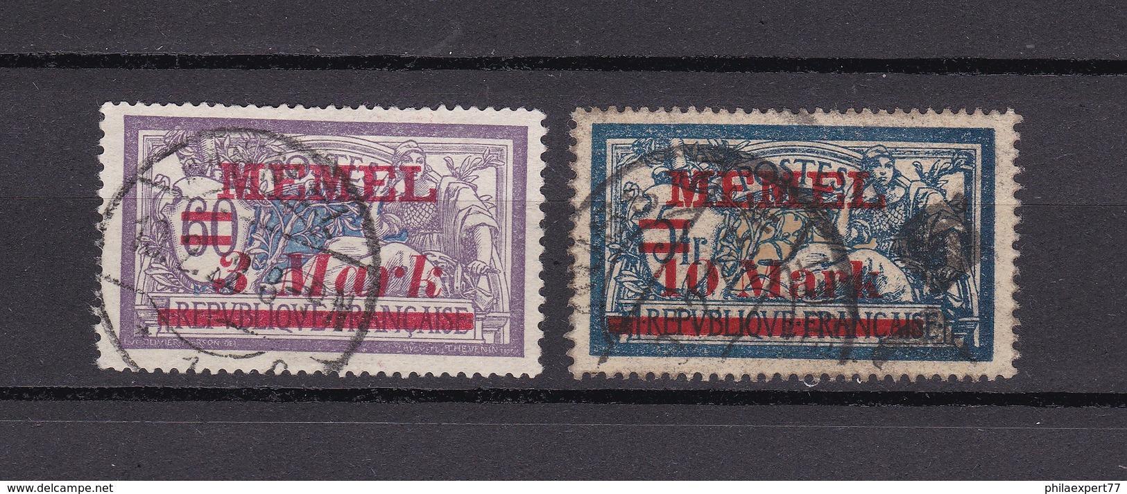 Memelgebiet - 1921/22 - Michel Nr. 37/38 - Klaipeda