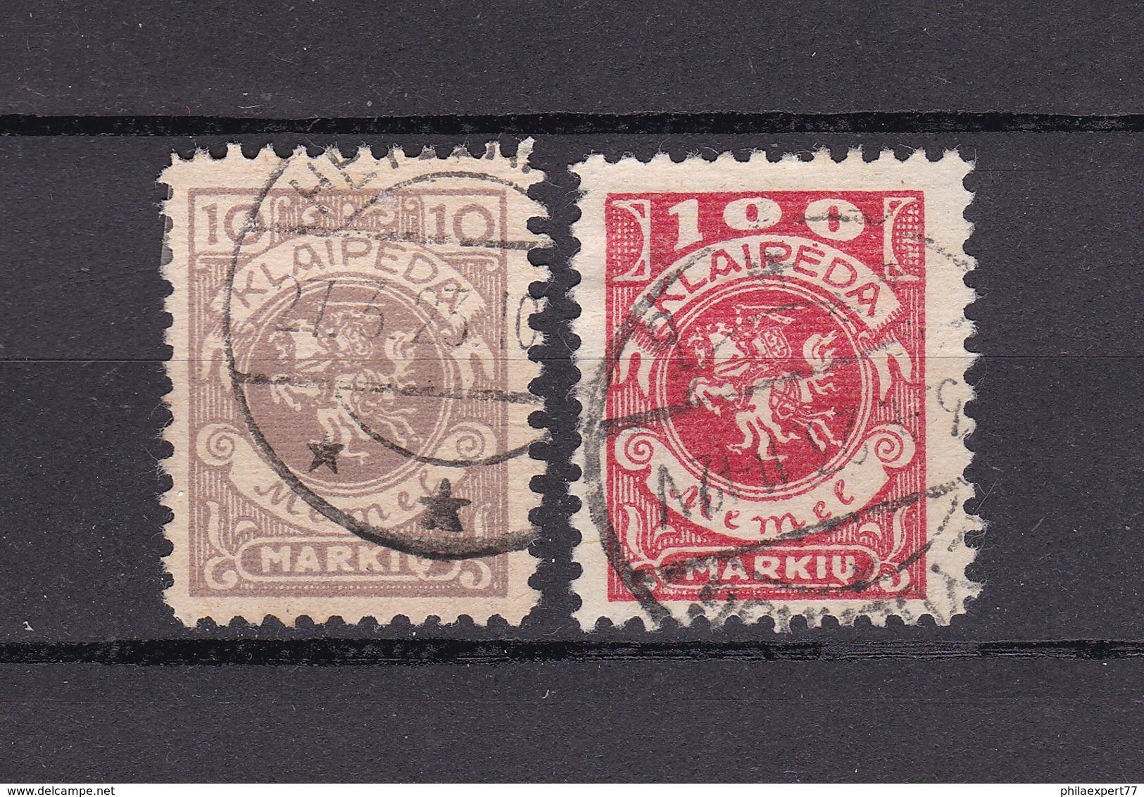 Memelgebiet - 1923 - Michel Nr. 141+146 - Klaipeda