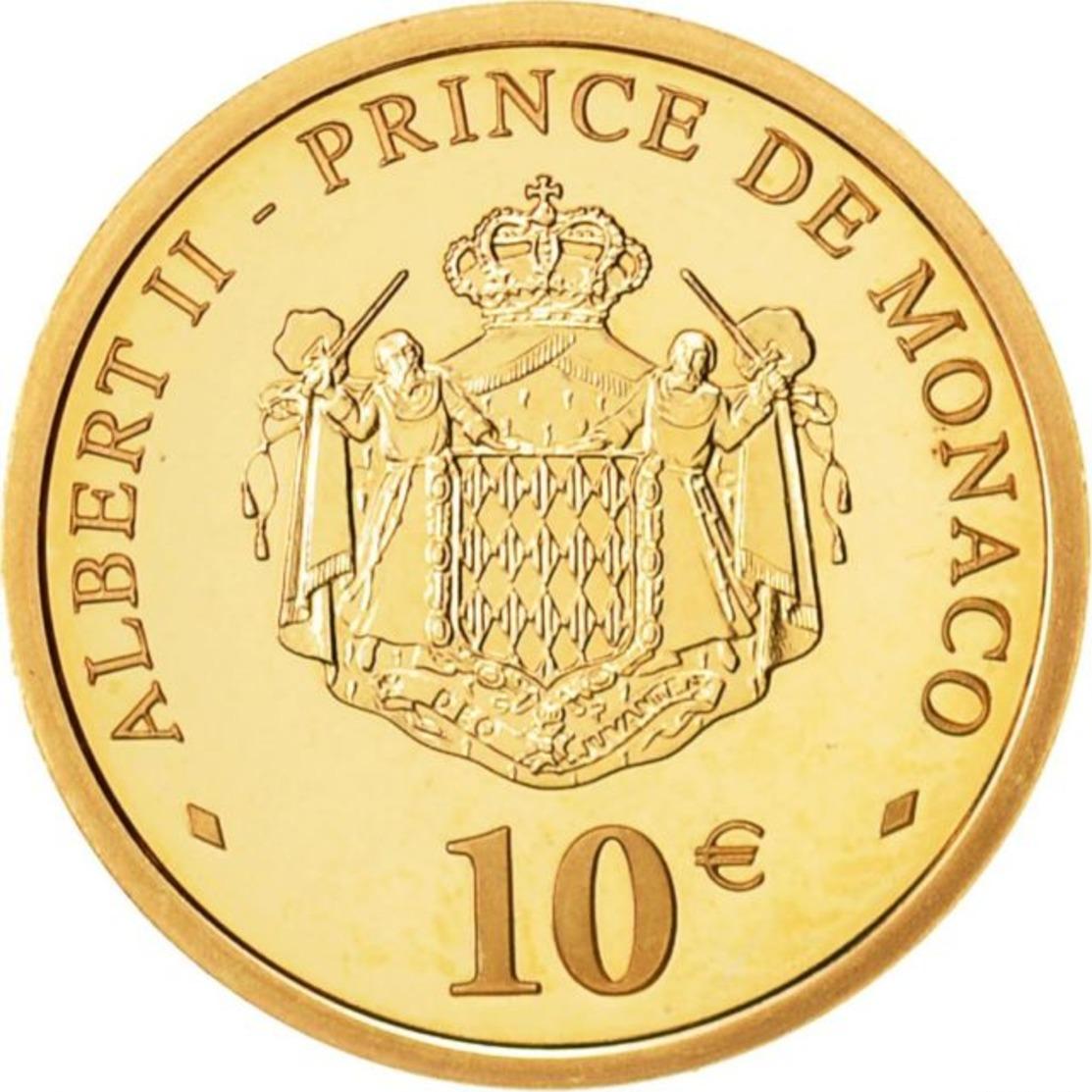 MONACO  2 X 2005 PRINCE RAINIER III 10 € EN OR (FDC)  EN COFFRET..... - Monaco