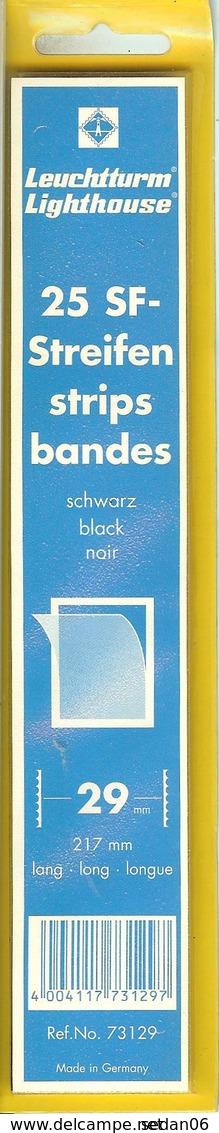 Leuchtturm - Bdes 217x29 Fond Noir (Réf. 73129) - Bandes Cristal