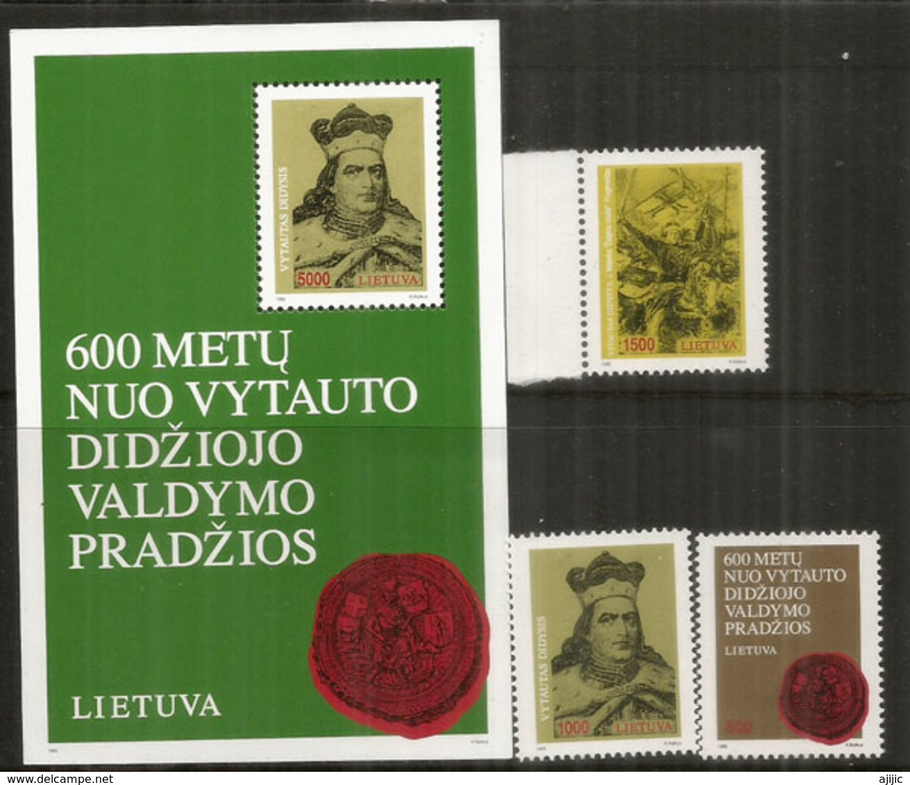 Vytautas Le Grand, Bloc-feuillet + Série Neufs **  Côte 12,00 Euro - Lithuania