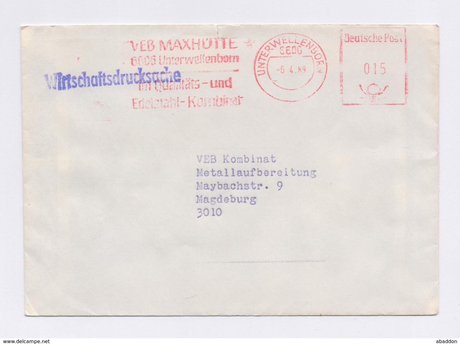 DDR AFS - UNTERWELLENBORN, VEB Maxhütte -6.4.89 - DDR
