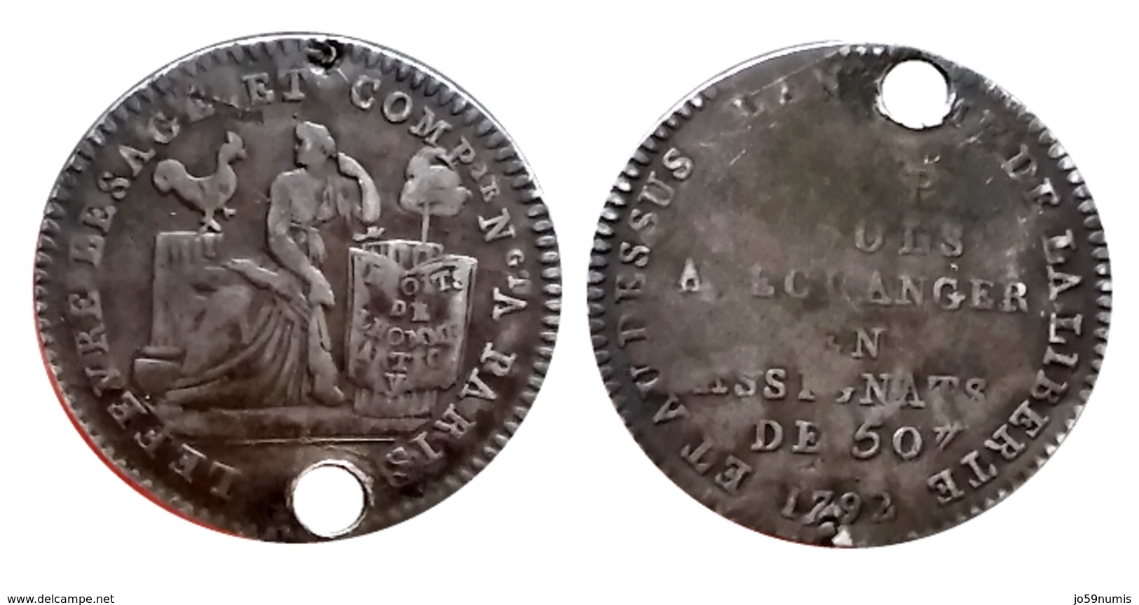 MONNAIE DE CONFIANCE De 10 Sols Lefèvre Lesage Et Cie Paris A VOIR!!! - 1789-1795 Monnaies Constitutionnelles